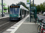 21.08.2019: Siemens Combino nr. 403 ved stoppestedet Campus Fachhochschule.